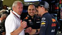 Helmut Marco, Gianpiero Lambiase a Max Verstappen v kvalifikaci v Rakousku