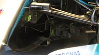 Přední část podlahy Mercedesu W09