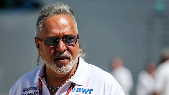 Vijay Mallya před měsícem v Silverstone