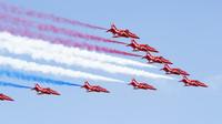 Letecká show před závodem v Silverstone