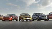 """Hned pět modelů značky Volkswagen obdrželo ocenění Plus X Award jako """"Produkt roku 2018"""" – Polo, I.D. VIZZION, T-Roc, Touareg a Atlas Tanoak."""