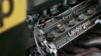 V12 motor Lamborghini LE3512, který v roce 1992 dosahoval výkonu 690 koní