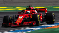 Sebastian Vettel s Ferrari SF71H v Německu