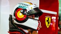 Sebastian Vettel v tréninku v Německu
