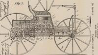 Patentový nákres Duryea Road Vehicle
