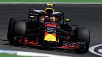 Max Verstappen v tréninku v Německu
