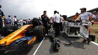 Fernando Alonso před závodem v Německu