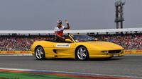 Marcus Ericsson v prezentaci před závodem v Německu