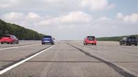 Velký souboj automobilů Volkswagen s označením GTI