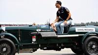 Daniel Ricciardo při prezentaci před závodem v Německu