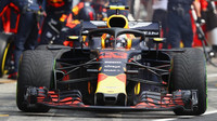 Max Verstappen v závodě v Německu
