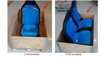 Speciální postup balení a odesílání sedadel z Bugatti Chiron zpět do automobilky ve Francii