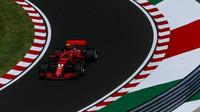 Kimi Räikkönen v tréninku v Maďarsku