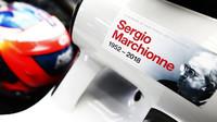 Romain Grosjean a vzpomínka na Sergio Marchionneho na jeho voze v tréninku v Maďarsku