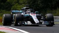 Lewis Hamilton v tréninku v Maďarsku