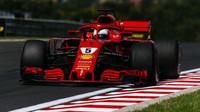 Sebastian Vettel v třetím tréninku v Maďarsku