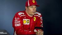 Kimi Räikkönen na tiskovce po kvalifikaci v Maďarsku