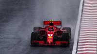Kimi Räikkönen za deštivé kvalifikace v Maďarsku