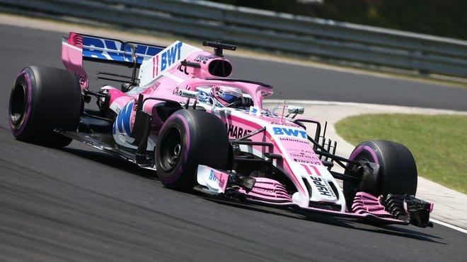 Sergio Pérez s Force Indií VJM11 na Hungaroringu