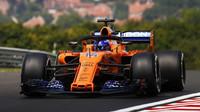 Fernando Alonso v třetím tréninku v Maďarsku