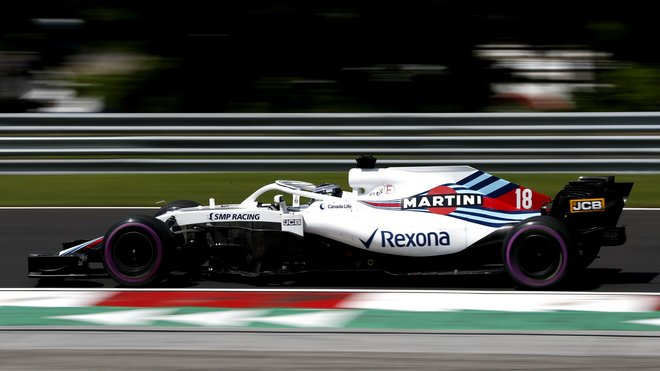 Lance Stroll s Williamsem FW41 na Hungaroringu