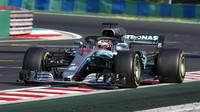 Lewis Hamilton v závodě v Maďarsku