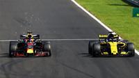 Daniel Ricciardo a Nico Hülkenberg v závodě v Maďarsku