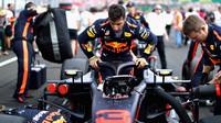 Daniel Ricciardo před závodem v Maďarsku