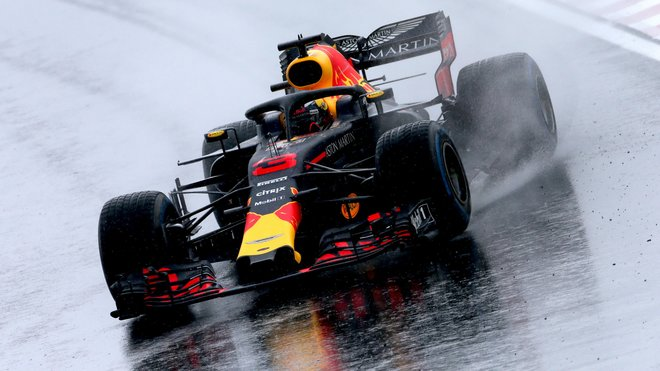 Daniel Ricciardo během kvalifikace na Velkou cenu Maďarska