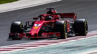 Kimi Räikkönen při sezónních testech v Maďarsku