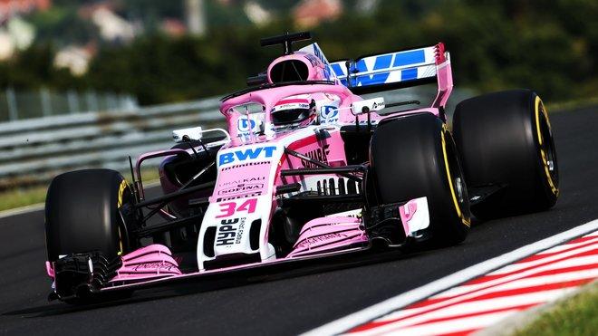 Force India při testech v Maďarsku minulý týden nechyběla