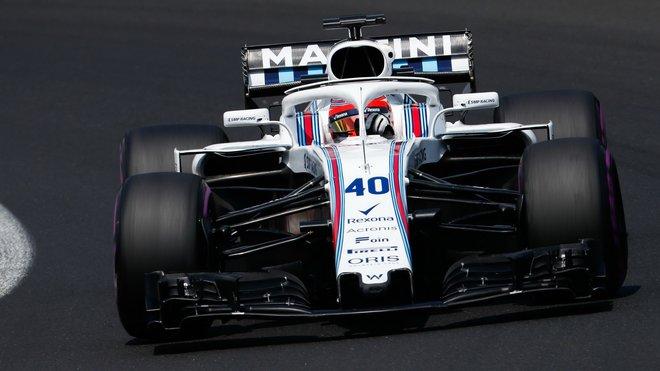 Robert Kubica s Williamsem při testech v Maďarsku