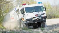 Tatra Tigon: Spojením osvědčeného podvozku Tatra a nástavby od společnosti Rosenbauer vznikl naprosto výjimečný hasičský speciál