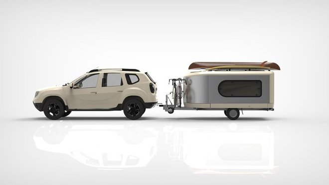 Nový francouzský karavan Tipoon ukrývá obrovský vnitřní prostor