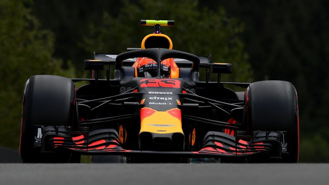 Max Verstappen s Red Bullem RB14 v kvalifikaci na GP Belgie