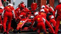 Sebastian Vettel během své nejrychlejší zastávky v Belgii