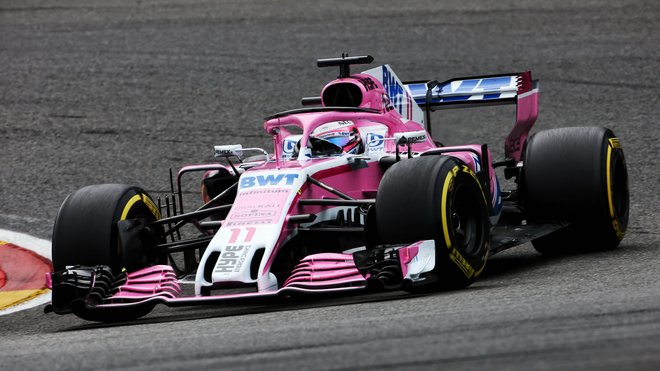 Sergio Pérez v GP Belgie