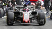 Romain Grosjean s Haasem VF-18 v Belgii
