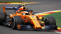 Stoffel Vandoorne za volantem McLarenu MCL33 ve Spa