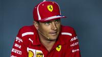 Kimi Räikkönen na tiskové konferenci