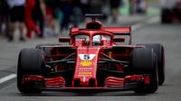Sebastian Vettel v závodě v Monze
