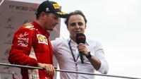 Kimi Räikkönen s Felipem Massou při rozhovoru po závodě v Monze