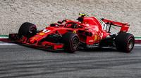 Kimi Räikkönen v závodě v Monze