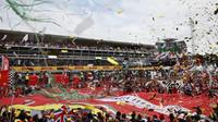 "Fanoušci Ferrari ""tifosi"" po závodě v Monze"