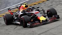 Max Verstappen v závodě v Monze