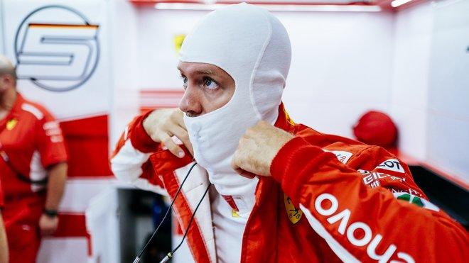 Sebastian Vettel v Singapuru