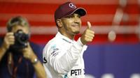 Lewis Hamilton po úspěsné kvalifikaci v Singapuru