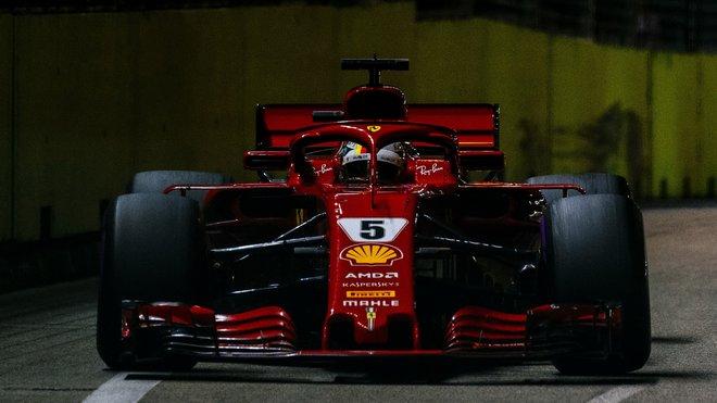 Sebastian Vettel ve Velké ceně Singapuru