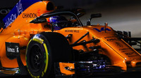 Fernando Alonso v závodě v Singapuru