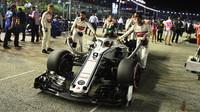 Marcus Ericsson před závodem v Singapuru